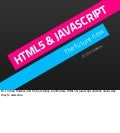 HTML5 & JavaScript: The Future Now