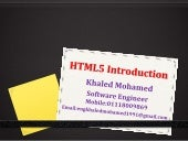 Best Introduction to HTML5 (please ...