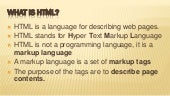 Html introduction by ikram niaz