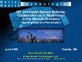 "HIT and Health System Reforms: Collaboration as a ""Must Have"" in the Network Economy"
