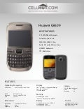 Huawei g6609 unlocked qwerty gsm cell phone