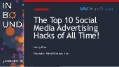 The Top 10 Facebook and Twitter Advertising Hacks of All Time