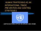Human Trafficking As An Internation...
