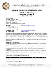 Humane handling of fearful dogs joh...