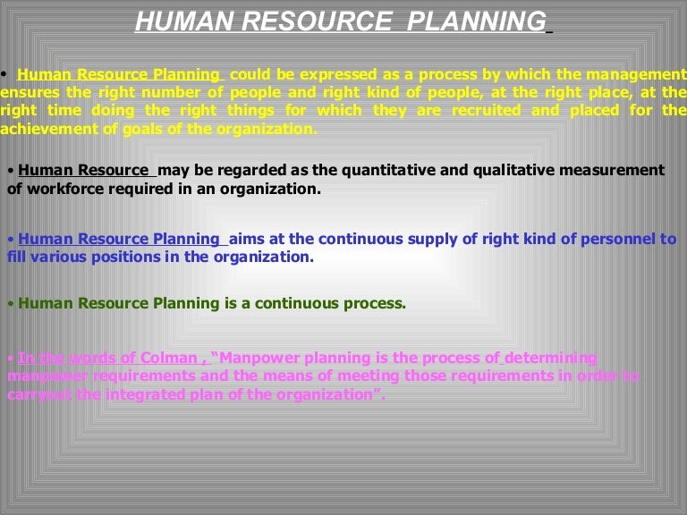 steps in human resource management