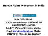 Human rights movement in india vibh...