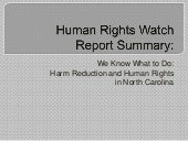 Human rights watch scpg presentatio...