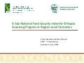 A Sub-National Food Security Index ...