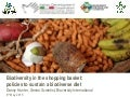 Biodiversity in the shopping basket: policies to sustain a biodiverse diet