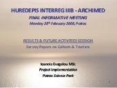 HUREDEPIS Project INTERREG IIIB - A...