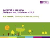 Huw Robson: Sustainable Economy