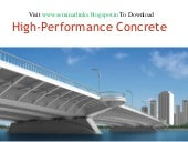 High performance concrete (HPC)