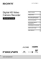 Sony HXR-NX70E Operation Manual