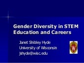 Gender Diversity in STEM Education ...