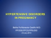 Hypertensive disorders in pregnancy...