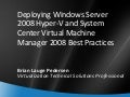 Hyper V And Scvmm Best Practis