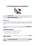 Hypotension Medications