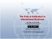 The Role of Arbitration in Internat...