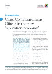 The Chief Communications Officer in...