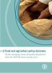 Food and agriculture policy decisio...