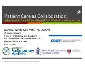 Patient Care as Collaboration