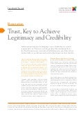 Trust, Key to Achieve Legitimacy and Credibility