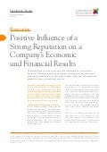 Positive influence of a strong reputatino on a company´s Economic and financial results