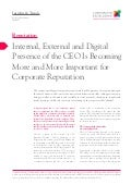 Internal, External and Digital Presence of the CEO is becoming more and more important for Corporate Reputation