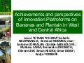 Achievements and perspectives of Innovation Platforms on Bananas and Plantain in West and Central Africa