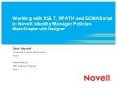 Working with XSLT, XPath and ECMA S...