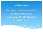 Identity and Access Management Intr...