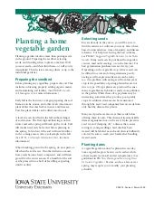 IA: Planting a home vegetable garden