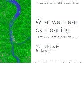 What we mean by meaning: new structural properties of information architecture IAS15