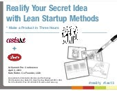 Realify your Secret Idea with Lean ...