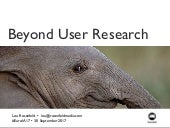 Seeing the Elephant: Defragmenting User Research