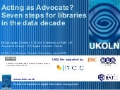 Acting as Advocate? Seven steps for...