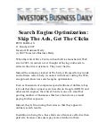 Search Engine Optimization SEO; Skip the Ads, Get the Clicks - Investors Business Daily