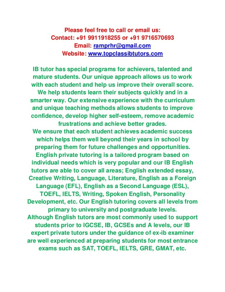 Please help on extended essay?