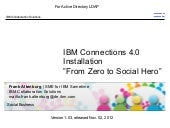 IBM Connections 4.0 Installation   From Zero To Social Hero - 1.03 with AD LDAP