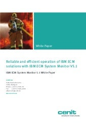 IBM ECM System monitor Whitepaper