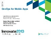 IBM Innovate DevOps for Mobile Apps