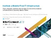 IBM InterConnect 2103 -  Institute ...
