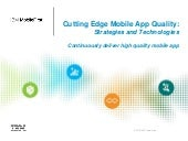 Mobile App Quality - what are your users really saying?