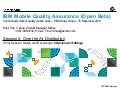 IBM Mobile Quality Assurance   Study Group Session 4 - Over the Air Distribution