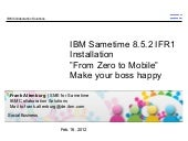IBM Sametime  8.5.2 IFR1 implementa...