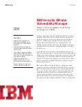 IBM Security QRadar Vulnerability Manager