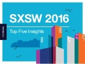 Top 5 Insights: SXSW 2016