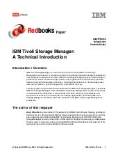 Ibm tivoli storage manager a techni...