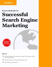 Sucessful Search Engine Marketing