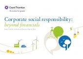 Corporate Social Responsibility: Beyond Financials